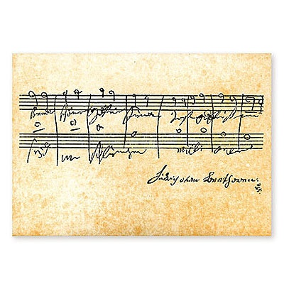 Carte Postale - Partition Beethoven