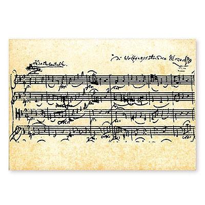 Carte Postale - Partition Mozart
