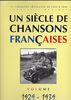 Compilation : Un Siècle de Chansons Francaises : 1929-1939