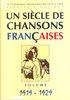 Compilation : Un Siècle de Chansons Francaises : 1919-1929