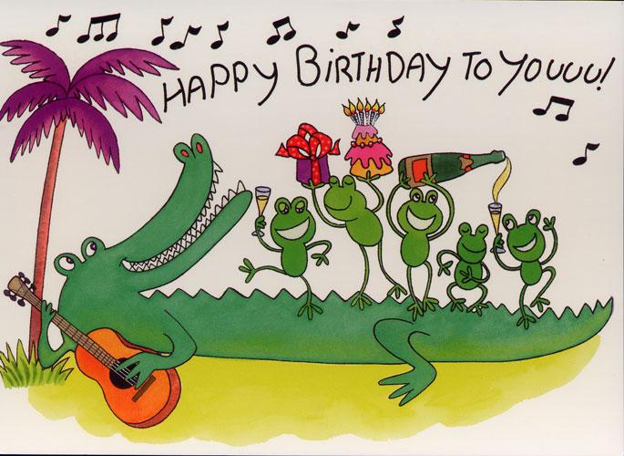 Carte Postale d\'Art `Happy Birthday`
