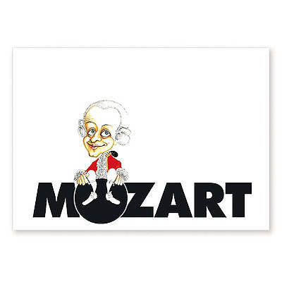 Carte Postale Humoristique Mozart