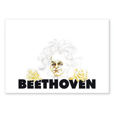 Carte Postale Humoristique Beethoven