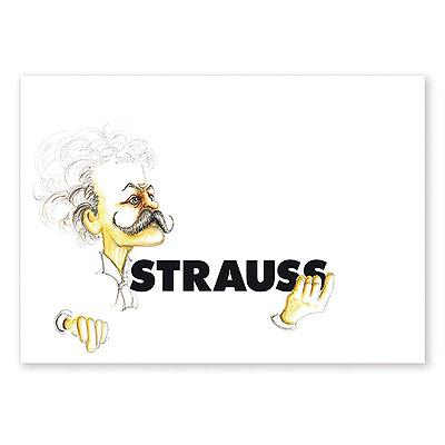 Carte Postale Humoristique Strauss