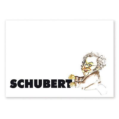 Carte Postale Humoristique Schubert