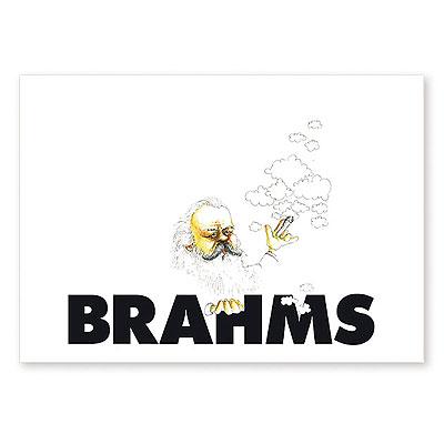 Carte Postale Humoristique Brahms