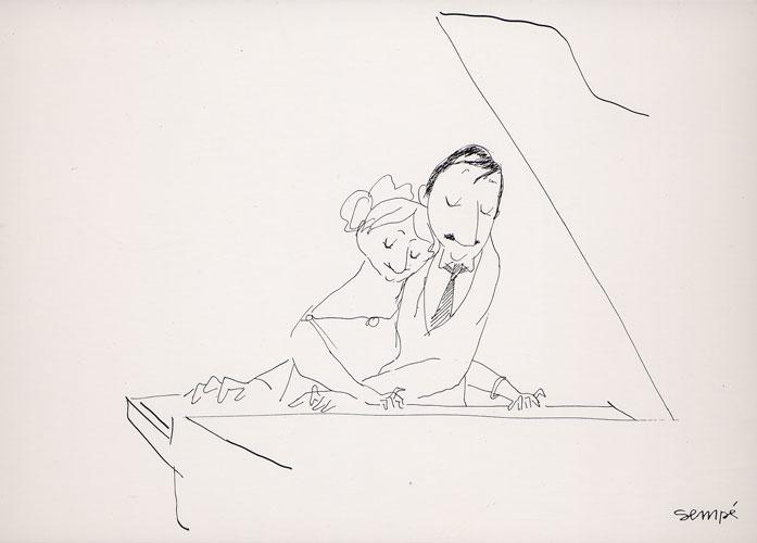 Carte Postale d\'Art, extrait de `Les Musiciens` 1979