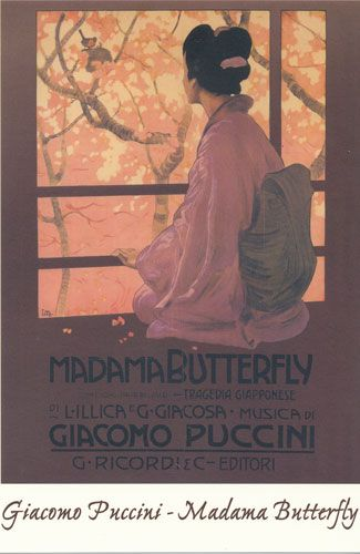 Carte Postale - Madame Butterfly - Giacomo Puccini