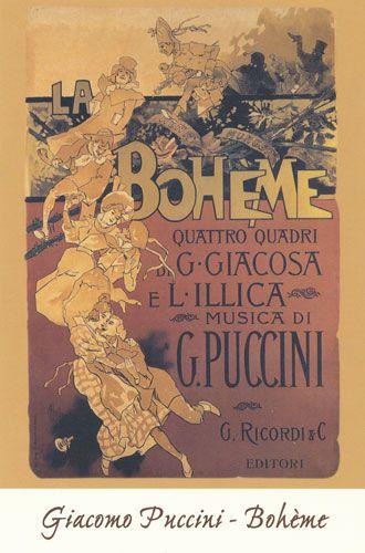 Carte Postale - La Bohème - Giacomo Puccini