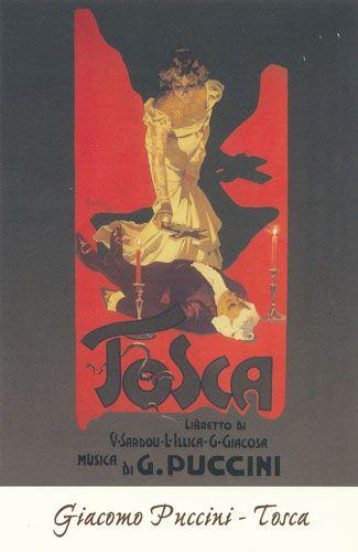 Carte Postale - Tosca - Giacomo Puccini