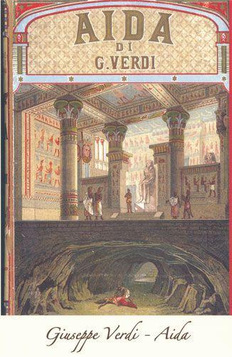 Carte Postale - Aida - Giacomo Puccini