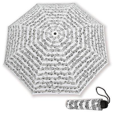 Parapluie de poche Blanc - Portée Noire