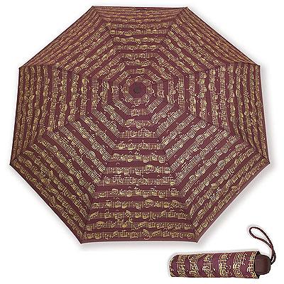 Parapluie de poche Bordeaux - Portée Or
