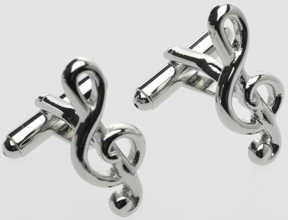 Tie Studio: Treble Clef Cufflinks