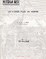 Aubert, Jean-Louis / Téléphone : Un Homme Plus Un Homme