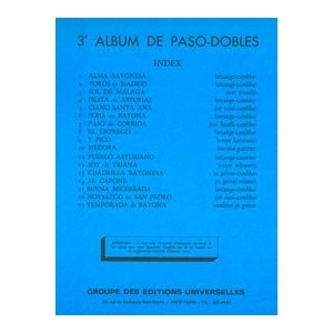 3ème Album De Paso-Dobles