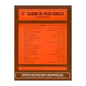 5ème Album De Paso-Dobles Standards