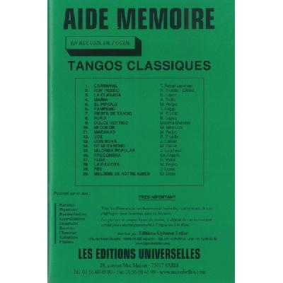 Aide Mémoire – Tangos Classiques