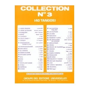 Collection N°3 - 40 Tangos