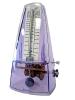Métronome pyramide plastique transparent violet avec sonnerie