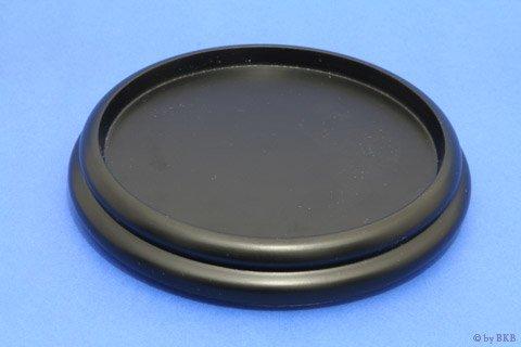 Isolateur en Bois - Noir - 160 mm avec Feutre - Diamètre Interieur 135 mm