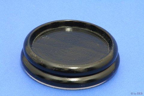 Isolateur en Bois - Noir Brillant - 90mm avec Feutre - Diamètre Intérieur 65mm