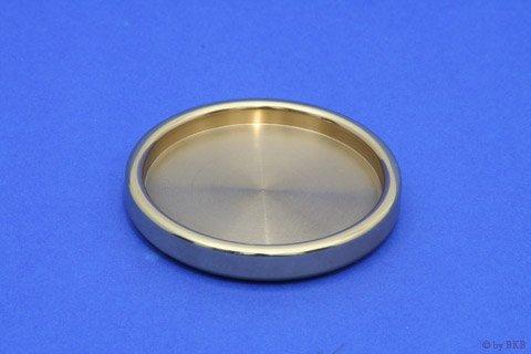 Isolateur Laiton Massif - Poli 65mm - Rond - Diamètre Intérieur 55mm