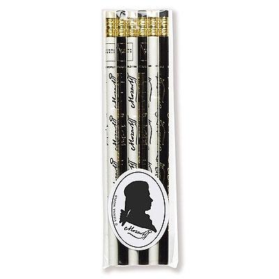Lot de 6 Crayons à Papier - Mozart (Blanc / Noir)