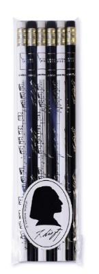 Lot de 6 Crayons à Papier - Liszt (Blanc / Noir)