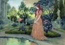 alexander pappas: femme de chambre dans un jardin