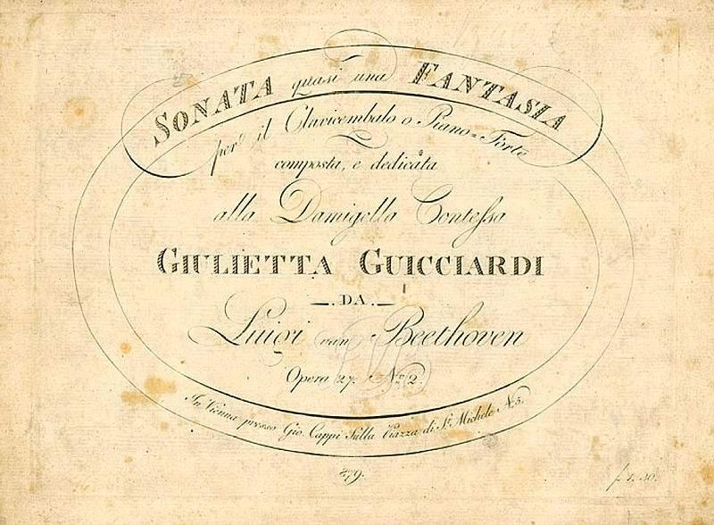 """Beethoven, Ludwig van:  Sonata No. 14 in C# minor """"Quasi una fantasia"""""""