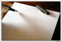 Caron, Andr?: Sur une page blanche