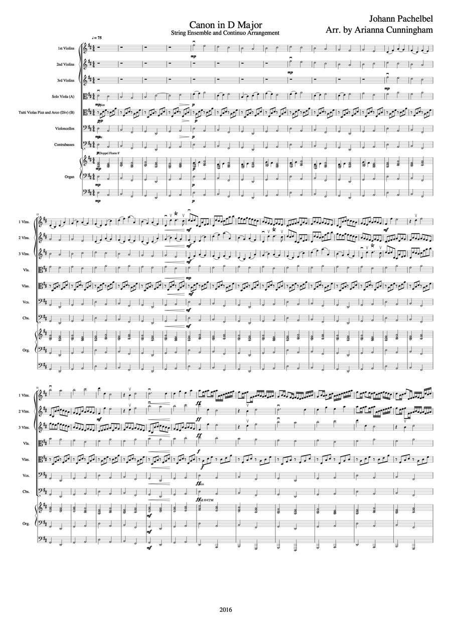 Pachelbel, Johann: Canon in D Major