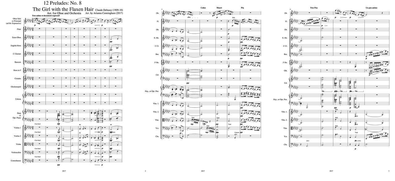 Debussy, Claude: 12 préludes: n° 8 - la fille aux cheveux de lin