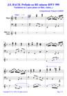 JS BACH Variations sur le prélude en RE m