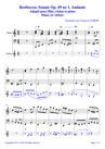 Beethoven Sonate Op 49 no 1 Andante Piano Flûte Violon