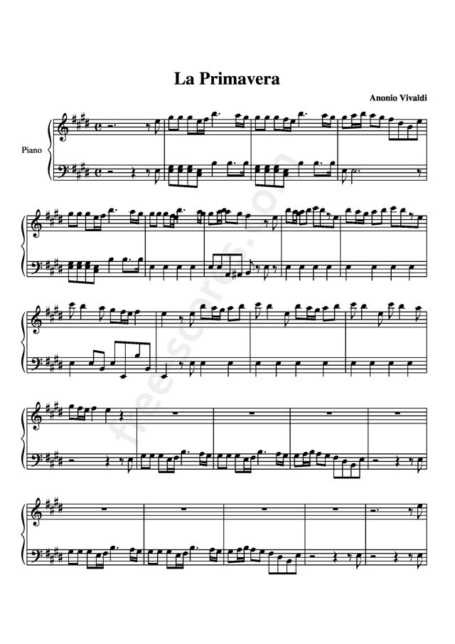 春 四季より 無料 ピアノ 楽譜