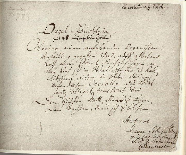 Bach, Johann Sebastian: Choral BWV 639 - Ich ruf zu dir, Herr Jesu Christ