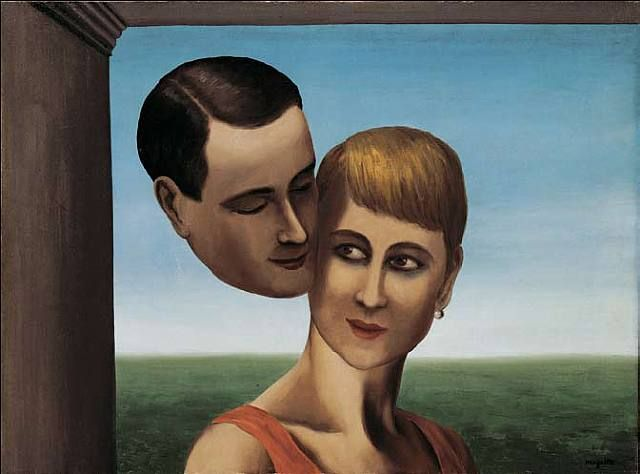 Dewagtere, Bernard: The Lovers (According to painting by Magritte)