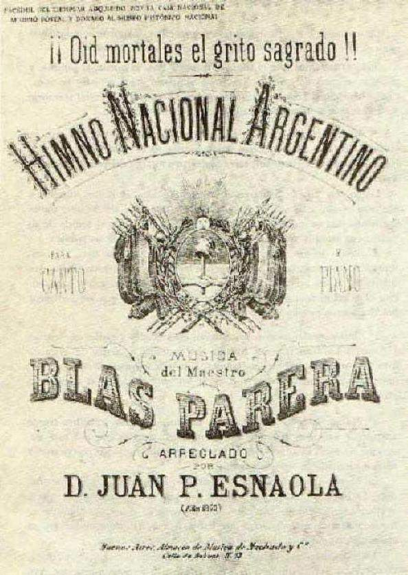 Parera, Blas: Argentine National Anthem