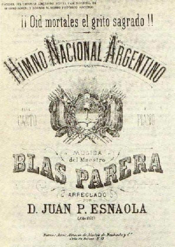 Parera, Blas: Argentine National Anthem