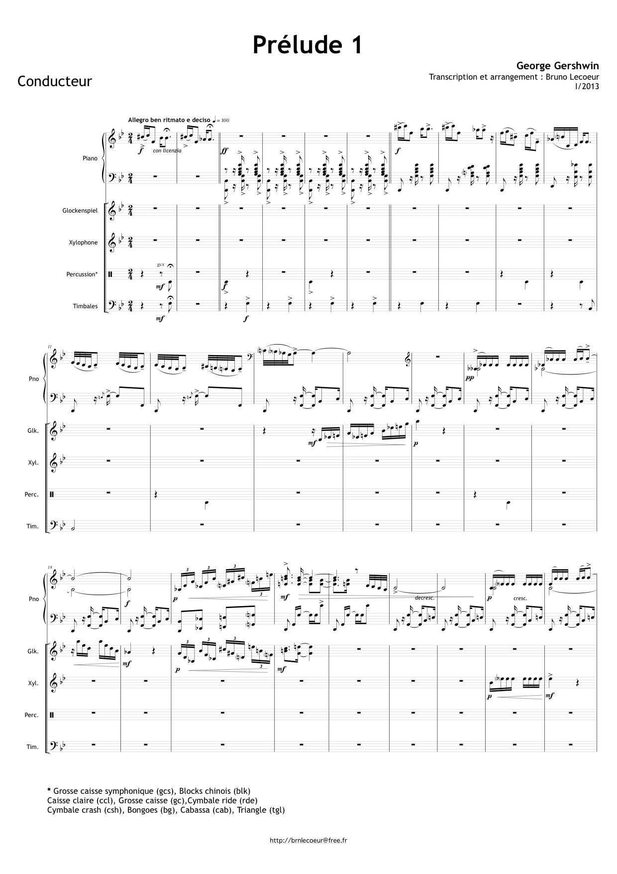 Gershwin, George: Prélude n°1 - 3 Préludes