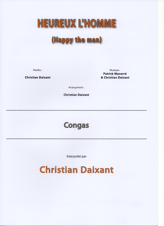 Daixant, Christian: HEUREUX L