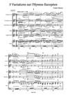 3 Variations sur l'Hymne Européen