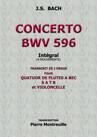 CONCERTO BWV596