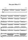 Duo pour flûtes N°1