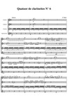 Quatuor pour clarinettes N°6