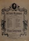 20 Etudes mélodiques pour la harpe