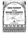 Antoine et Cléopâtre (suite)