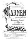 Carmen de l'opéra de Bizet (Fantaisie de Concert)